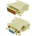 ADAPTADOR DVI-I MACHO (24+5 PINOS) X VGA FEMEA DB15 EXBOM 1868 / DEX DV10 / LELONG LE-618  (V2-P4/SR-02)