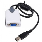 CABO ADAPTADOR CONVERSOR USB 2.0 PARA VGA MONITOR 2013 (V2 P2)