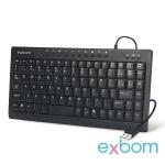 MINI TECLADO MULTIMIDIA USB ABNT2 PRETO EXBOM BKM57 (BL2-P3)