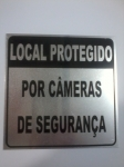 PLACA PS LOCAL PROTEGIDO CAMERAS DE SEG 14X14 MOD 5