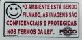 PLACA AVISO FOCO CFTV MINI (SR1-P0)
